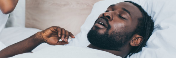 African American Male sleeping